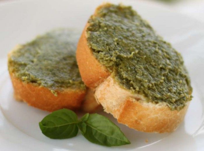 Moringa cream cheese on bread
